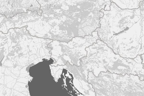 Clean black and white world map