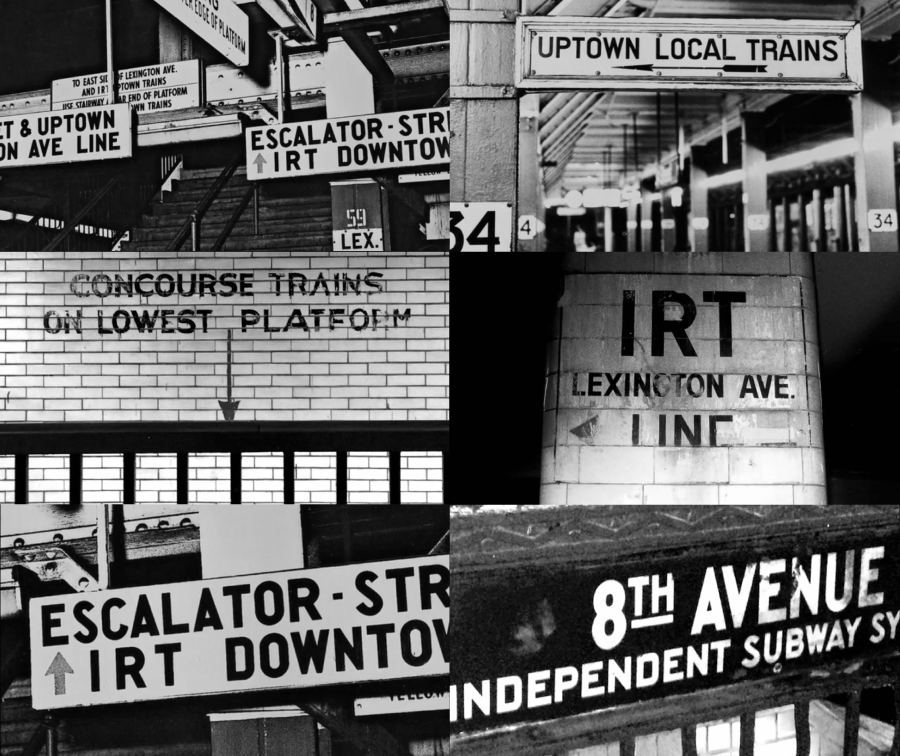 Chaotic signs of the New York subway