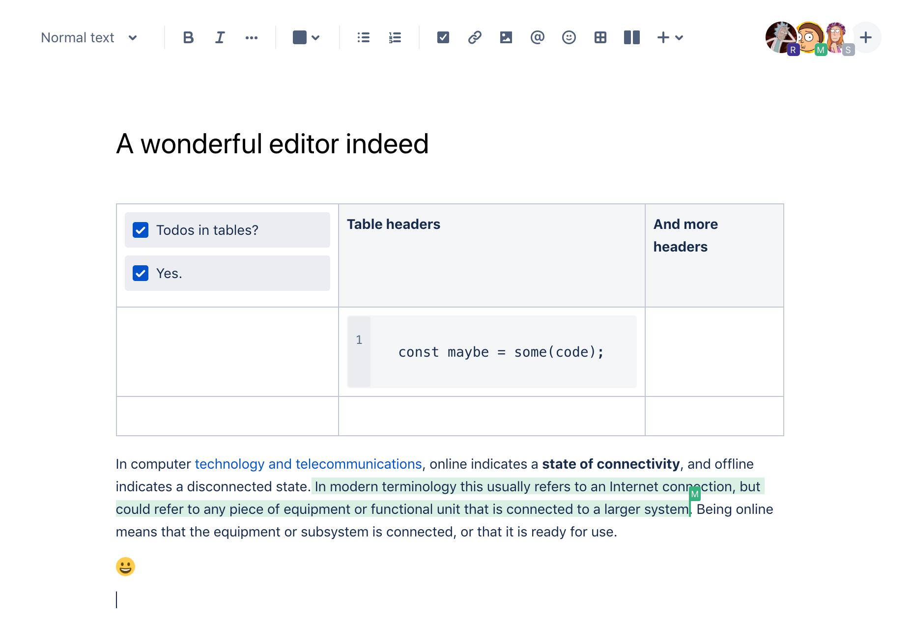Open source collaborative text editors